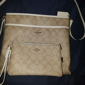 Coach Crossbody and wristlet